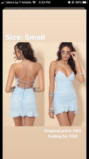 Avianna Pleated Ruffle Short Sky Blue Dress Tie-Back for Sale in Orlando, FL