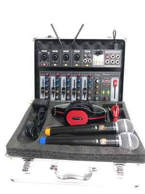 Studio 7kit BRAND NEW .Mixer with 7channels.Interface to computers .Headphone.Studio recording.Bluetooth.USB.Two wireless microphones included.Metal for Sale in Miami, FL