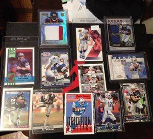 Football lot, a few patch cards and some throwbacks for Sale in Pekin, IL