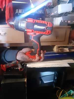 Bauer's 1/2 inch impact drill and angle grinder with battery and charger for Sale in Longmont, CO