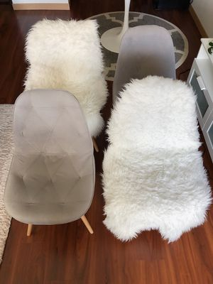 Chairs - SET OF 4 GRAY for Sale in Lynnwood, WA
