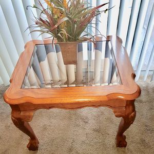 Wooden and glass Coffee table for Sale in Salt Lake City, UT