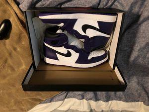 Nike Air Jordan 1 Court Purple for Sale in Fort Worth, TX