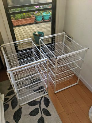 Closet Organizers (4 drawers rack) set of 2 for Sale in Berkeley, CA
