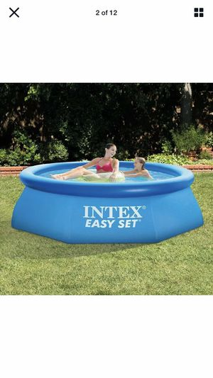 """Intex 8' x 30"""" Easy Set Round Inflatable Above Ground Pool for Sale in Fresno, CA"""