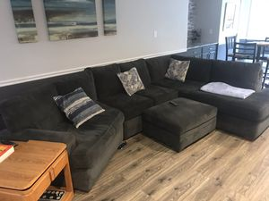Nice Couch with Chase, and storage ottoman. for Sale in Columbus, OH