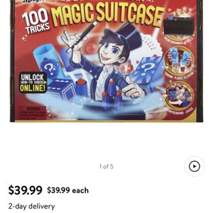 Unopened 100 Tricks Magic Suitcase - Factory Sealed New! Kids , Teens, Fun Games For All for Sale in Boyertown, PA