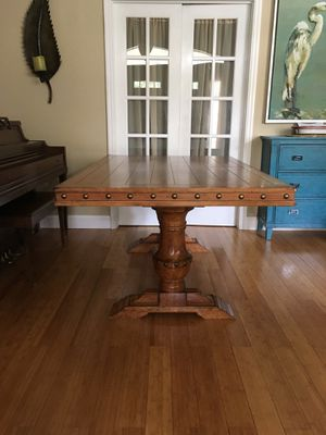 Solid wood dining room table for Sale in Venice, FL