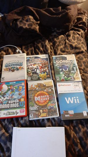 6 Wii games with Wii console for Sale in North Chesterfield, VA
