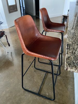 CB2 Bar stools. Retails $300/each w tax. Asking $300 for both. for Sale in Florida City, FL