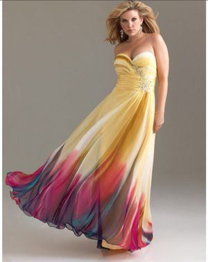 Sherri Hill Yellow to ombré Fucsia Dress for Sale in Chattanooga, TN