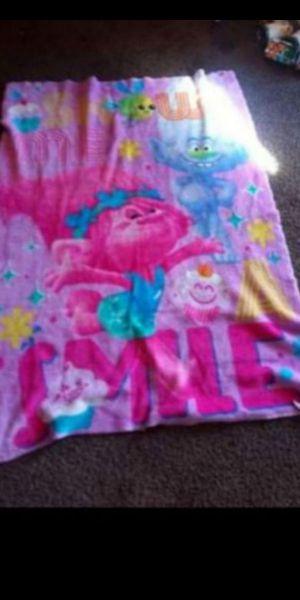 Trolls fleece toddler/crib side fleece blanket $10 for Sale in Fresno, CA