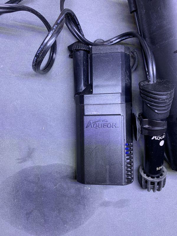 Aquarium filter and heater