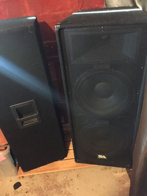 Two Dual 15 inch speakers w/ Amp for Sale in Washington, DC