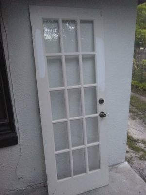 """Heavy Wood Exterior Door 29.5""""x80"""" Wood Door for Sale in Tampa, FL"""