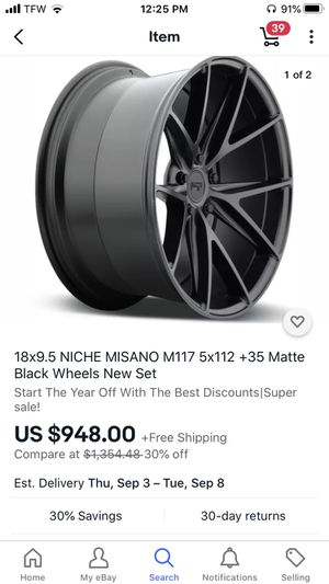 Niche wheels and tires 235/40/18 Yokohama for Sale in Harrisonburg, VA