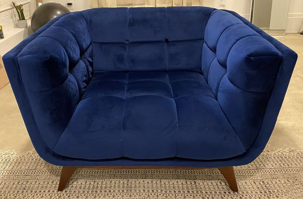 Blue Velvet Sofa Chair