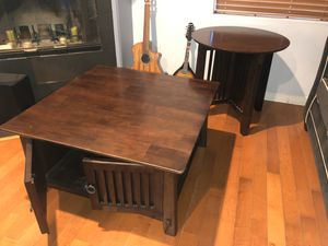 Wooden Coffee table with end table for Sale in Los Angeles, CA
