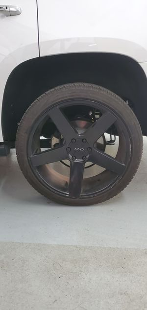 "24"" AZAD Wheels with tires fits GMC, CHEVROLET, CADILLAC for Sale in Spring Valley, CA"