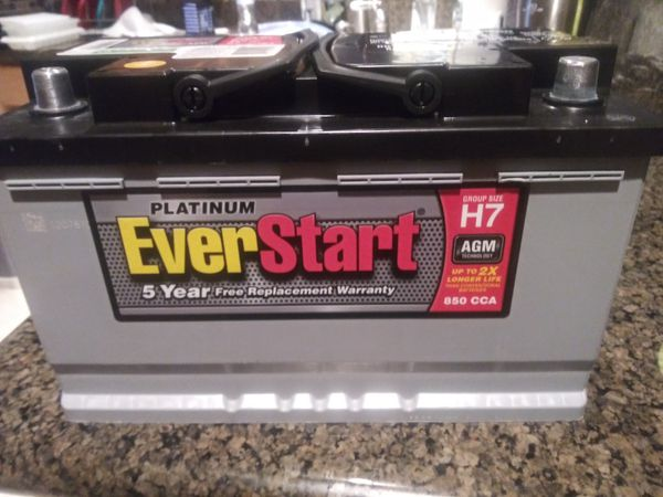 Everstart Battery Warranty >> EverStart Maxx Platinum AGM H7 Car Battery with 5 year warranty Brand New for Sale in Henderson ...