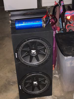 Kicker with amp much more like new for Sale in Santa Ana, CA