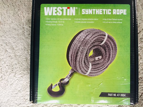 Synthetic Winch cable rope