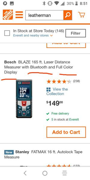 Laser distance measurer for Sale in Everett, WA