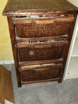 Wicker 3 Drawer Small Dresser for Sale in Newcastle,  WA