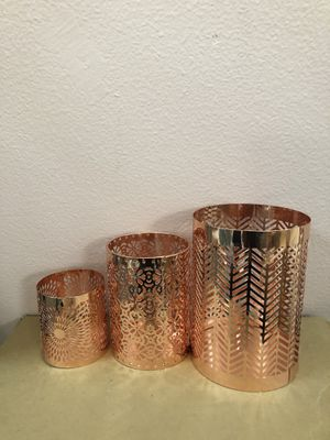 Wedding copper hurricane candle holder for Sale in Huntington Beach, CA