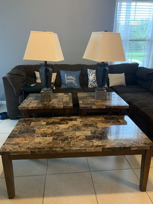 Tables Sets!! Plus lamps for Sale in Kissimmee, FL