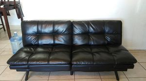 Black Leather Futon for Sale in Glendale, AZ