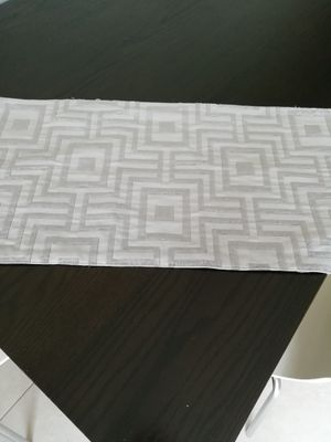 Silver grey contemporary table runner with a dynamic geometric design for a modern home decor 14'70' for Sale in Miami, FL