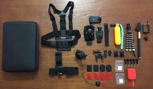 Bundle of Mounts & Accessories w/ Large Carry Case for GoPro HERO 1 2 3 3+ 4 5 6 7 8 Black Silver White Session for Sale in Honolulu, HI