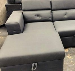 New Salado Gray Sleeper Sectional with Storage 🚚SAME DAY Delivery for Sale in College Park,  MD