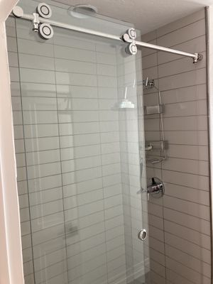 Tempered frameless glass shower door by Ove for Sale in Phoenix, AZ