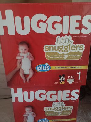 Huggies size 1. Pack of 192 for Sale in Loma Linda, CA