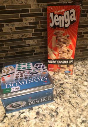 Jenga & Dominoes for Sale in Fresno, CA