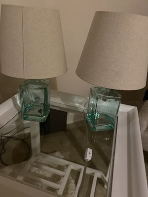 2 glass lamps for Sale in Smyrna, TN