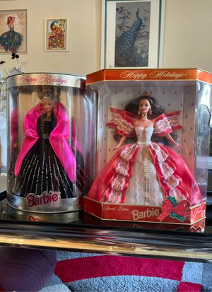happy holidays limited edition barbie dolls for Sale in San Leandro, CA