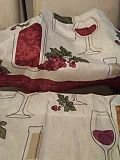 Midwood brands full kitchen wine curtains one set