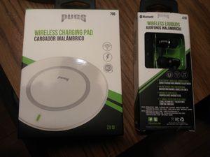 Pugs brand wireless charging pad & wireless headphones for Sale in Minneapolis, MN