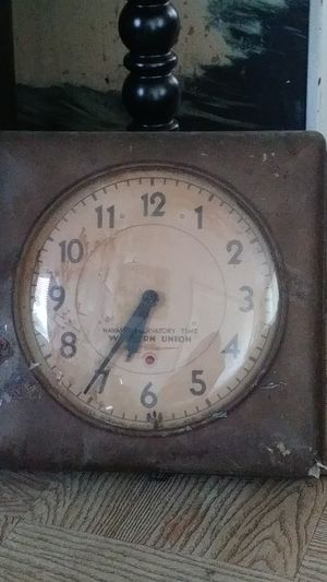 Antique Western Union Wall Clock for Sale in Tampa, FL