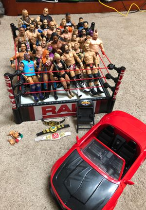 WWE wrestling guys/ring/car for Sale in Bloomingdale, IL