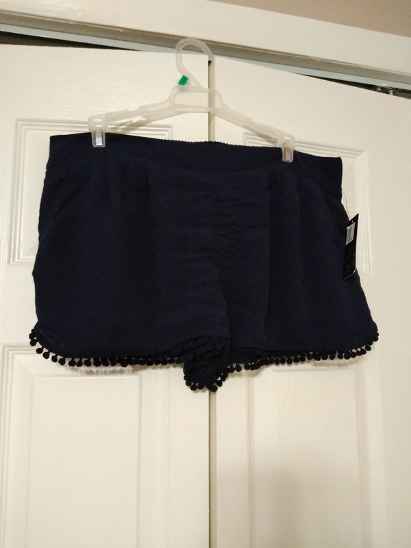 BCX Blue cover-up shorts