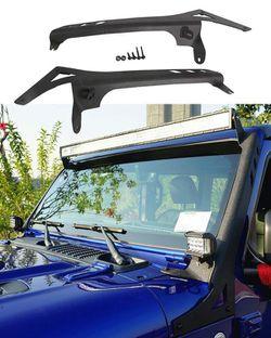 Jeep Wrangler JL LED Light Bar Mounting Brackets Upper Windshield With Pod Lights for Sale in Fullerton,  CA