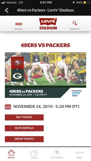 49ers vs Packers Tickets This Sunday for Sale in Los Angeles, CA