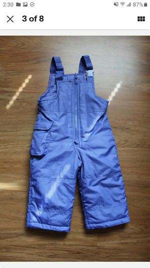 Waterproof snow pants overalls Bibs 12 M, 18M, 2T Carter's, London fog, Pink platinum for Sale in Vernon Hills, IL