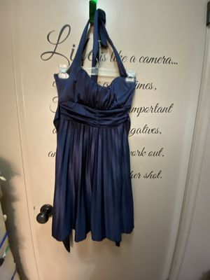 Sexy Blue Halter Prom or Party Dress Size Large for Sale in Cheyenne, WY