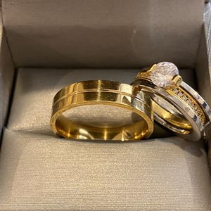 18K Gold plated Matching Ring set- Code BLN1 for Sale in Princeton, NJ