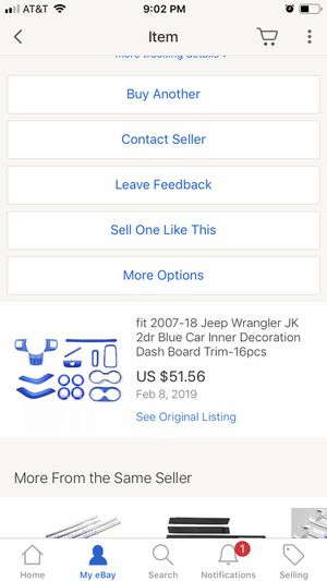 Brand new blue (interior & exterior) Jeep trim for Sale in Torrington, CT